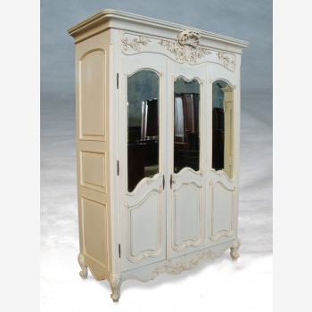 indonesia furniture Armoire French 3 Doors Flat Top