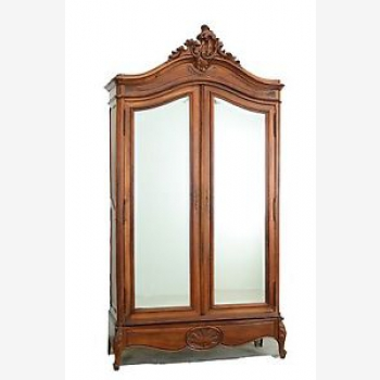 indonesia furniture French Classic Mirror Armoire 2 Doors