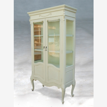 indonesia furniture French Ribbon Glass Cabinet 2 Door