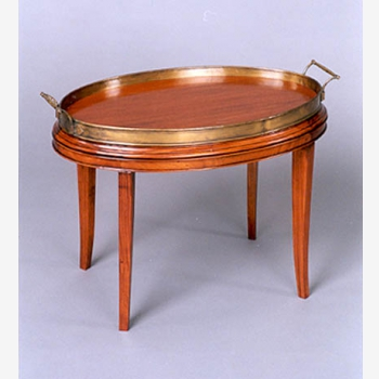 indonesia furniture Oval Tea Table with copper