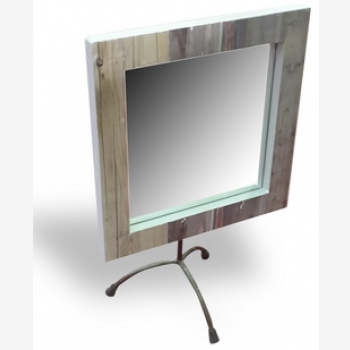 indonesia furniture Portable Mirror with Iron Stand 3