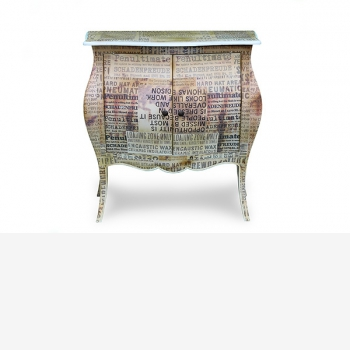 indonesia furniture Side Table 2 doors 2