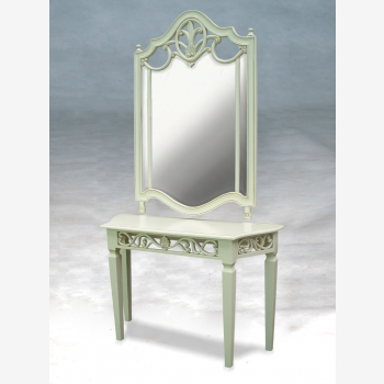 indonesia furniture Tiffany Console and Mirror
